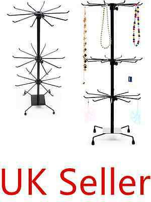 3 Tier Spinner 30 Hook Rotating Revolving Counter Display Stand Shop Fitting