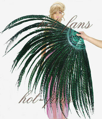 professional Luxury tall Pheasant Feather Fan Burlesque dancing colors option
