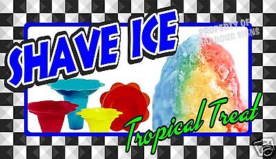 """Shave Ice Decal 14"""" Concession Food Truck Restaurant Vinyl Stickers"""