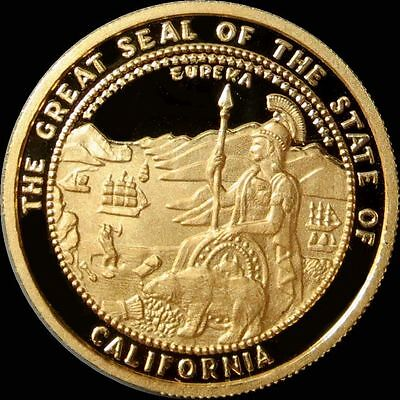 1987 Gold California 1 Oz  Proof Grizzly Bear  999.9 Pure Gold