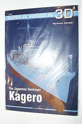 WW2 Japanese Kagero Super Drawings Kagero 16024 Reference Book