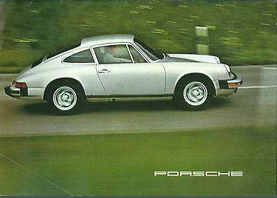 Catalogue gamme Porsche 1975 - 911 911 S 911 carrera Brochure prospekt
