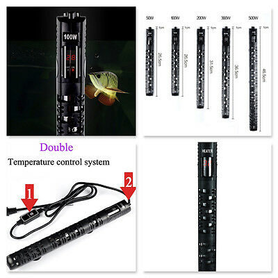 Digital Submersible Aquarium Heater 50W upto 500W Fish Tank Thermostat- UK PLUG
