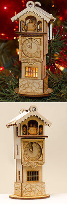 Ginger Cottage Wooden Ornament - Ginger Clock Tower - Made in the USA