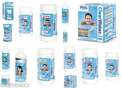 ClearWater Lay-Z-Spa Swimming Pool Hot Tub Chemicals Starter Kits Accessories