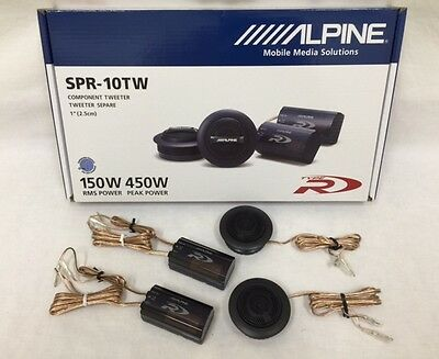 "Alpine Spr-10Tw 1"" Silk Ring Dome Car Audio Tweeters With Crossovers (Pair)"