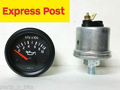 VDO VISION 12v 1000kpa 52mm OIL PRESSURE GAUGE AND SENDER AUTOMOTIVE MARINE 4WD