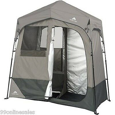 2 Room Shower Toilet Changing Shelter, Emergency Disaster Survival Camping Use