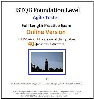 ISTQB Foundation Level – Agile Tester Full Length Online Practice Test