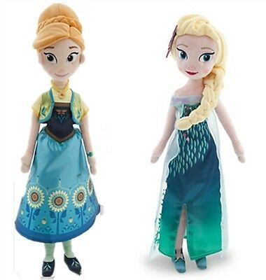 50cm Princess Elsa and Anna Fever Soft Stuffed Plush Doll Gift Toy