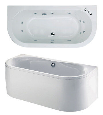 White Trojan Decadence Twin Ended 12 Jet Double Ended Whirlpool Bath Jacuzzi Spa