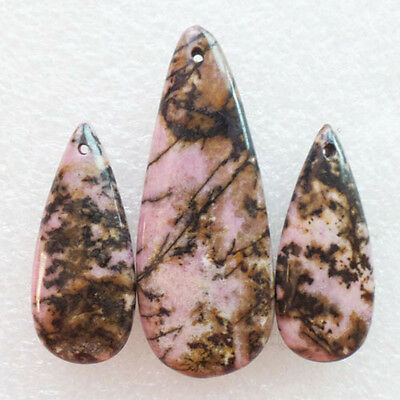 LL2204 Rhodonite Teardrop Pendant Bead 3Pcs/Set (Send Randomly)
