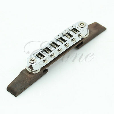 Adjustable Professional Chrome Bridge Roller Saddles For Les Paul Jazz Guitar