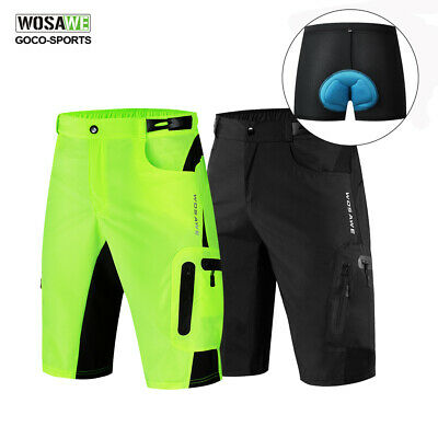 New MTB Men Cycling Mountain Bike/Bicycle Shorts Half Pants Gel Padded Underwer