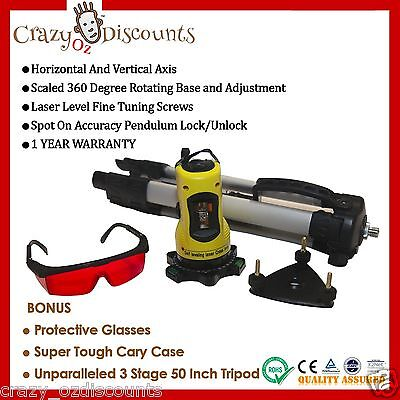 New Laser Level Self Leveling Cross Line Dual Axis Tripod Rotating Rotary Beam