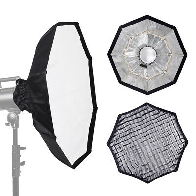 UK Studio 70cm SILVER Portable Beauty Dish with Honeycomb Grid Bowens Mount