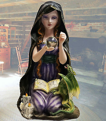 WITCH Baby Dragon Book Shadows WICCA Figure Statue Pagan Outstanding Halloween