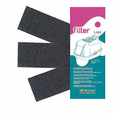 Ferplast active carbon filter L483 for Genica cat litter tray - pack of 3