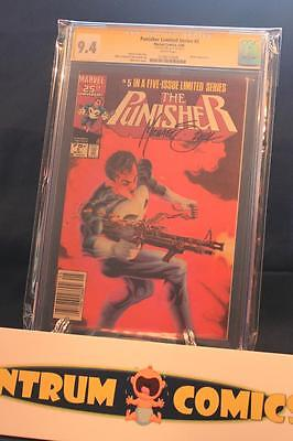 Punisher Limited Series #5 CGC 9.4 S.S. - Mike Zeck signature w/white pages!