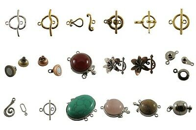 Multi-Color Brass Magnetic,Clasps,Hooks,Connectors,Tibetan Finding,Hook-and-Eye