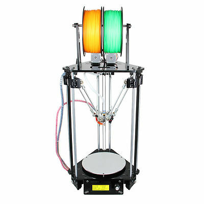 Geeetech 3D printer Auto Level Kossel Delta Rostock G2s double extruder from US