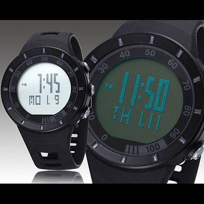 Military OHSEN Black Rubber Strap LED Date Army Men's Sport Wrist Watch Gifts