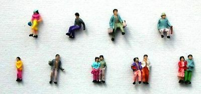 100 PAINTED PEOPLE Figures 19 various poses 10 to 11mm tall N 1/160 scale