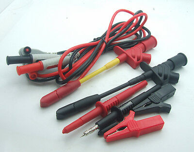 1 set Multimeter pen Insulated Piercing Cables alligator clip Test Hook Probes
