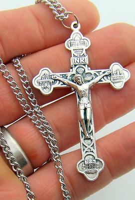 MRT Four Basilicas Limited Edition Italian Pectoral Crucifix Cross & Chain Gift