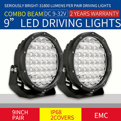 9inch 36900W cree LED Driving Light Round Spotlights Offroad 4WD Black lamp work