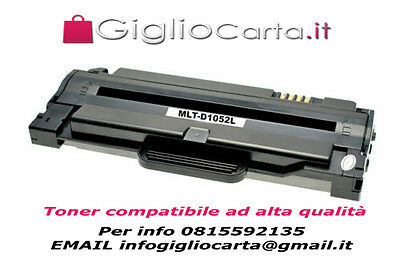 TONER COMPATIBILE PER SAMSUNG MLT D1052L ML1910 SCX4623F SF650 2500copie NERO