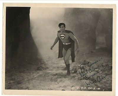 DC SUPERMAN original B&W picture signed by KIRK ALYN autograph  circa 1948/50