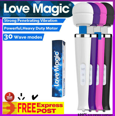 30 Modes Magic Wand Massager Body Personal Vibrator CORDED AU Plug HITACHI