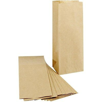 Plain Gift Bags x 10 Kraft Paper - Party Decorate Wedding Favour - Small Retro