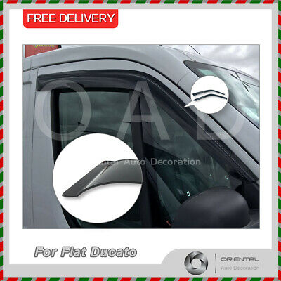 Premium Weather Shields Window Visors Weathershields for Fiat Ducato 14-current