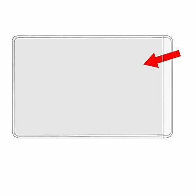 50 Business Card Plastic Wallets / Sleeves Clear NEW Heavy Duty Product