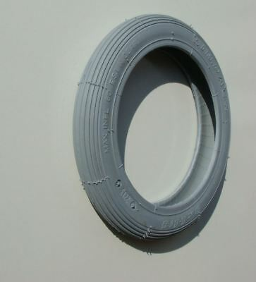 """8"""" x 1.1/4"""" Grey Rib Tread Mobility Scooter Wheelchair Tyre"""