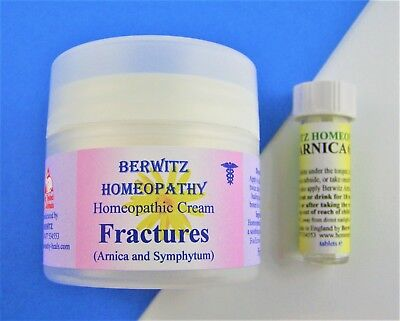 HOMEOPATHIC FRACTURES CREAM 50g w. Arnica & Comfrey Plus FREE Arnica 6 Tablets