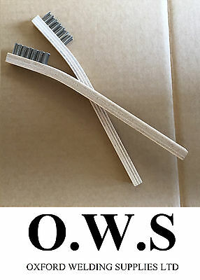 2 X Stainless Steel Wire Brushes FOR Aluminium Welding Low Temp Durafix Easyweld