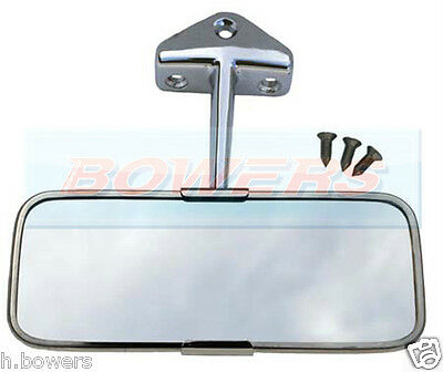 Classic Austin Mini Stainless Steel Chrome Interior Rear View Mirror
