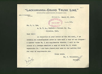 Railroad documents lot Lackawanna Grand Trunk Canadian Pacific National Despatch