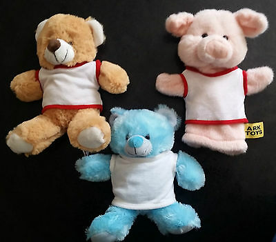 Blank Promotional Teddy Soft Toy T-Shirts For  Sublimation Transfer Printing New
