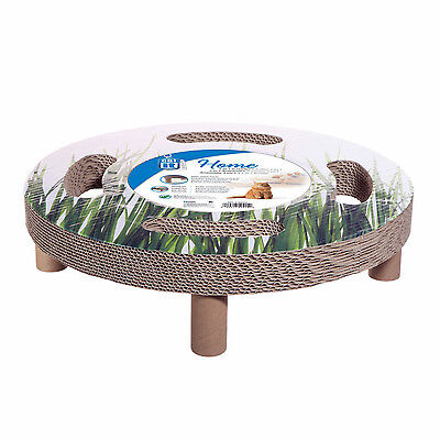 Catit Design Corrugated Bed Scratcher and Swivel Toy 3 in 1 Elevated Bed