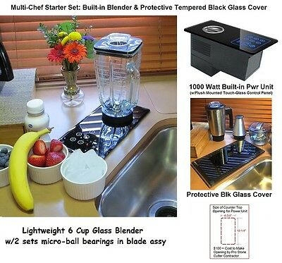 Built-in Blender + Stand Mixer +Food Processor; In Counter re:Nutone 220, 251