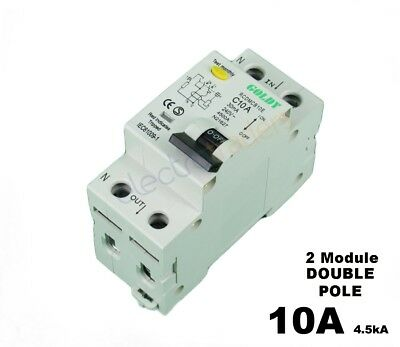 Safety Switch Circuit Breaker Combination RCBO 10 Amp 4.5kA Rated Goldy