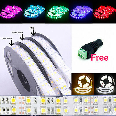 5M 5050/3528 SMD Double Row 600/1200 LED Flexible Strip Lights For Home Decor