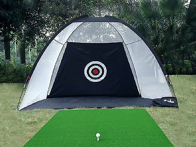 Golf Practice Driving Hit Net Cage Training Mat Chipping Outdoor 210D Oxford New
