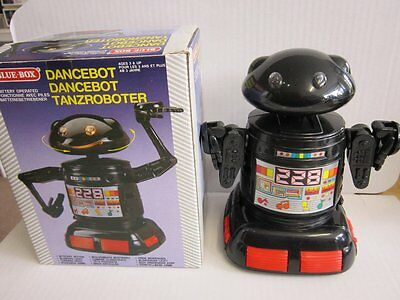 Space Toy Roboter Tanzroboter Robot Blue-Box Battery Operated 17cm 70er 80er OVP