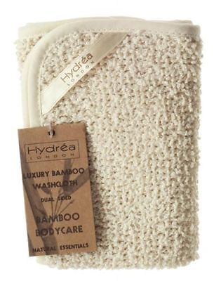 Hydrea London Natural Exfoliating Dual Sided Bamboo Washcloth FBS30