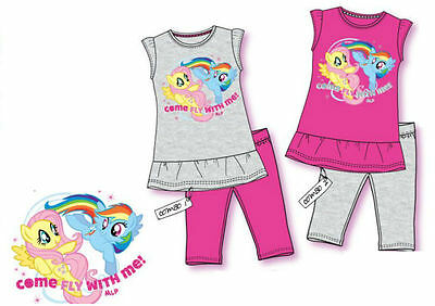 My Little Pony 3/4 Legging & Tunic Set Outfit  100% Cotton Age 2-8 Y Bnwt